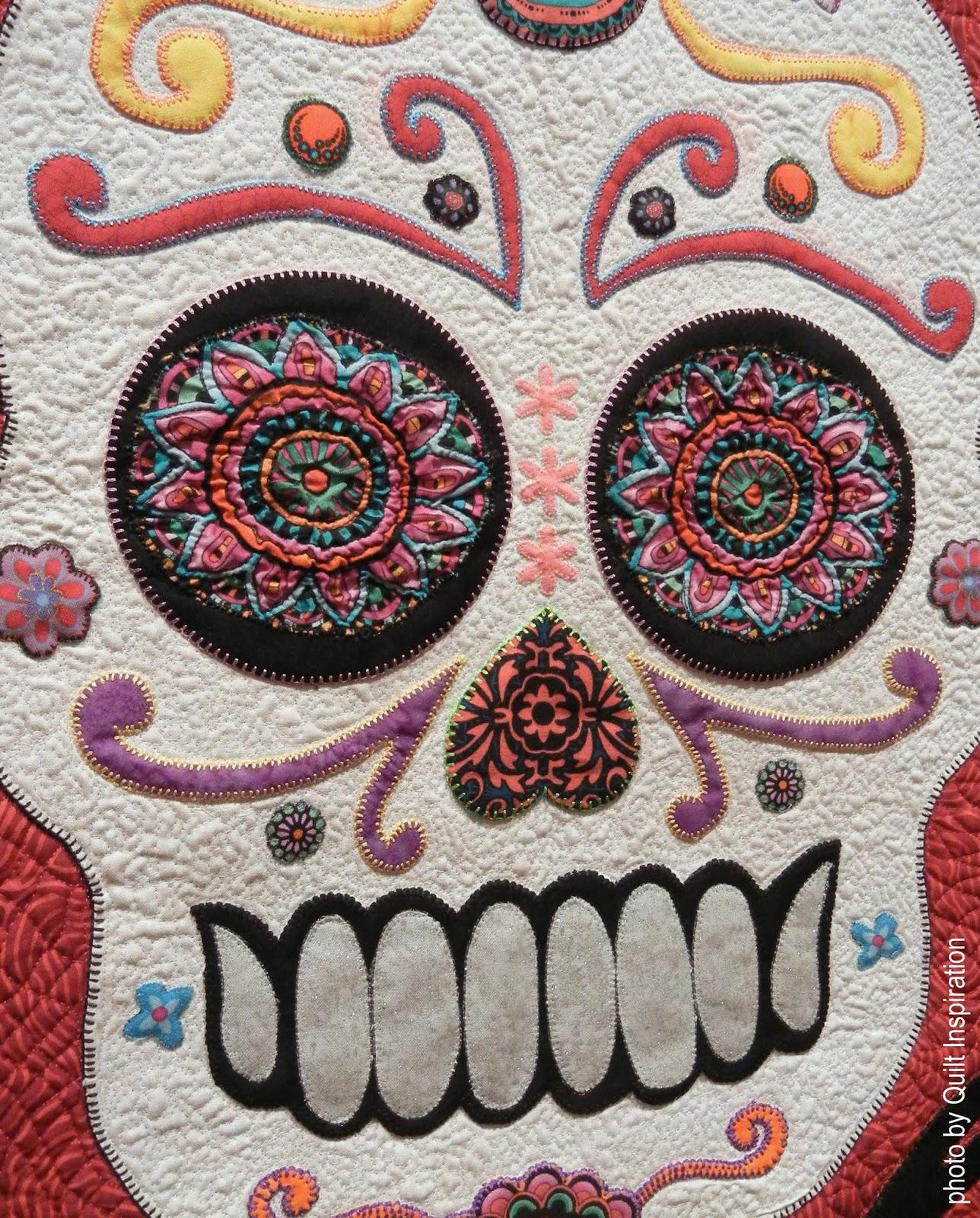 Sugar Skull Quilt : sugar, skull, quilt, Quilt, Inspiration:, Calavera, Azucar, (Sugar, Skull)