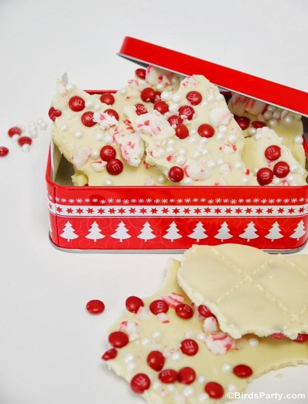 Recette Bark (écorce) au chocolat blanc et à la de menthe poivrée | BirdsParty.fr