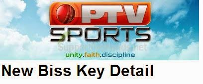 Ptv Sports Latest New Biss Key/Code  On Paksat 2014
