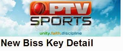 Ptv Sports Latest New Biss Key/Code  On Paksat 2014