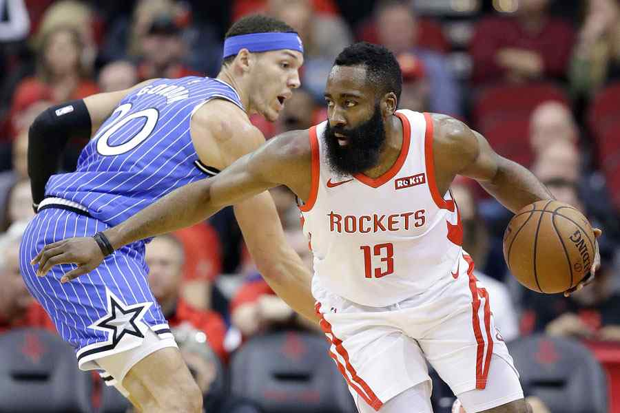 James Harden commands the Rockets' triumph over the Magic
