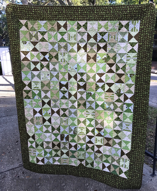 Hourglass Quarter-Square Triangles Quilt Free Tutorial