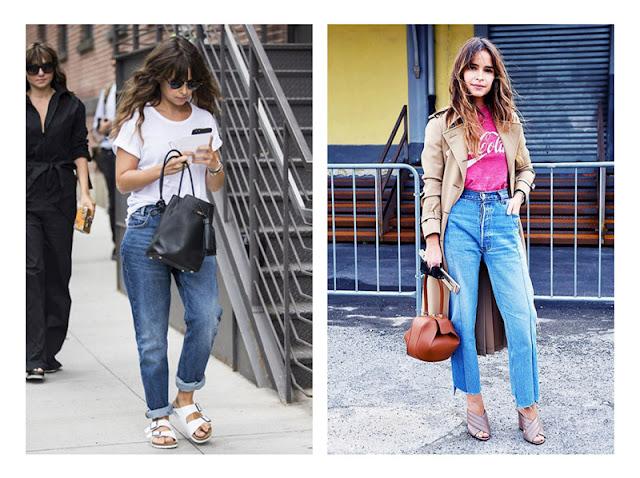 Мирослава Дума в джинсах с отворотами и джинсах с завышенной талией