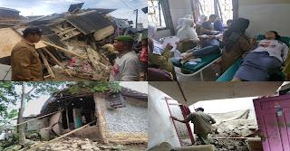 <b>Ratusan Rumah Rusak Diguncang Gempa 6,1 SR Banten dan Jawa Barat</b>