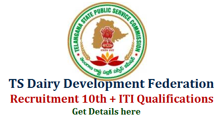 Telangana Dairy Development Co-Operative Federation Vacancies TSPSC Recruitment Notification   Telangana Sate Public Service Commission has come forward with another bunch of vacancies in TS Dairy Development Co operative Federation Limited with 10 plus ITI and Marketing Qualifications. Online Application started for Varioous Vacancies in TSDDCFL Check your Educational qualifications to go for the Recruitment by TSPSC. Submit Online Application for Lab Assistants Boilor Operator Plant Operators Marketing Supervisors Marketing Assistant Posts in Telangana Dairy Development Co Operation Federation Limited. Check here for Educational Qualifications Syllabus How to Submit Online Application Form Scheme of Examination Download of Hall Tickets Exam Dates Keys and Results  telangana-dairy-development-co-operative-federation-limited-recruitment-vacancies-lab-assistants-boilor-plant-operators-marketing-excutives-get-details