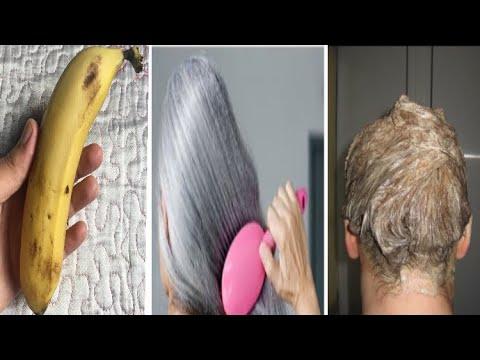 بموزة واحدة تخلصي من الشيب حتى لو كان شعرك كله أبيض و من الإستعمال الأول
