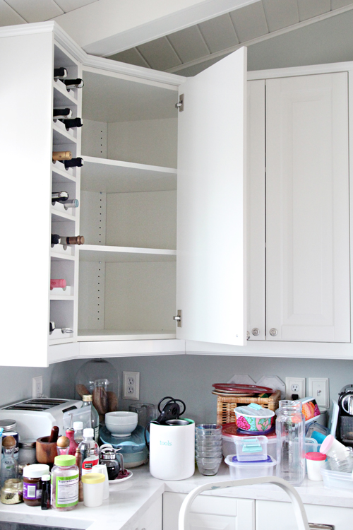 Iheart Organizing Organized Kitchen Corner Cabinet With A Diy Lazy Susan