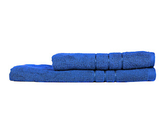 Amazon- Buy Towel Town Ecospun Bath Towels (Blue, Set of 2) at Rs 250
