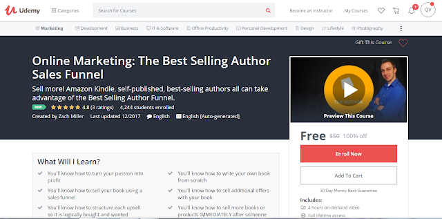 Online Marketing: The Best Selling Author Sales Funnel