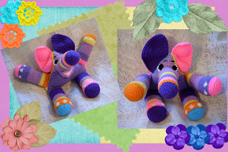 thunder the elephant precious, cute, funmigurumi pattern