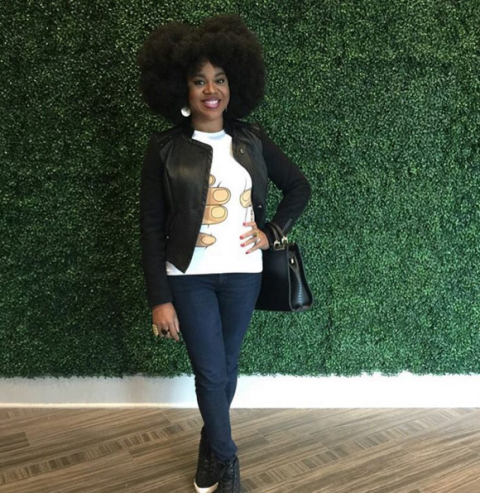 Stunning Stella Damasus And Her Afro Hairstyle Dazzles [Photo]