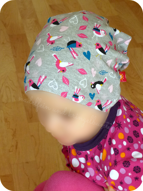 Ottobre 4/2015 Beanie Pink Drops Kinder Mütze Upcycling