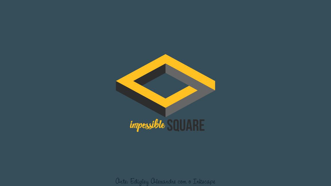 Wallpaper matemático 17: quadrado impossível