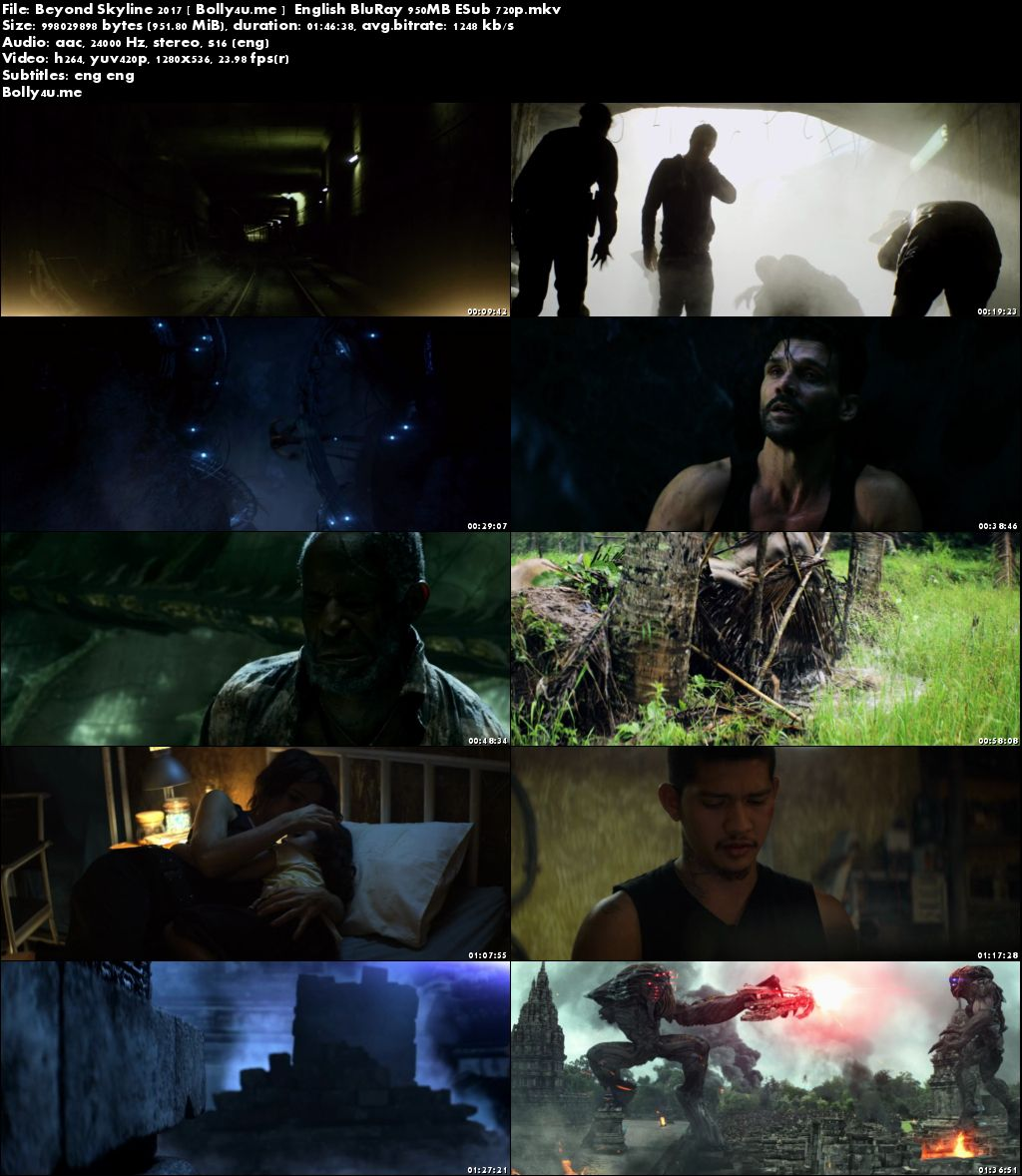 Beyond Skyline 2017 BluRay 950MB English 720p ESub Download