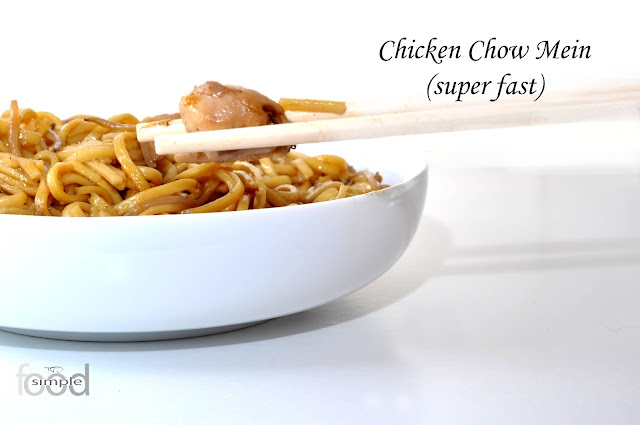 Chicken Chow Mein (super fast) ~ Simple Food