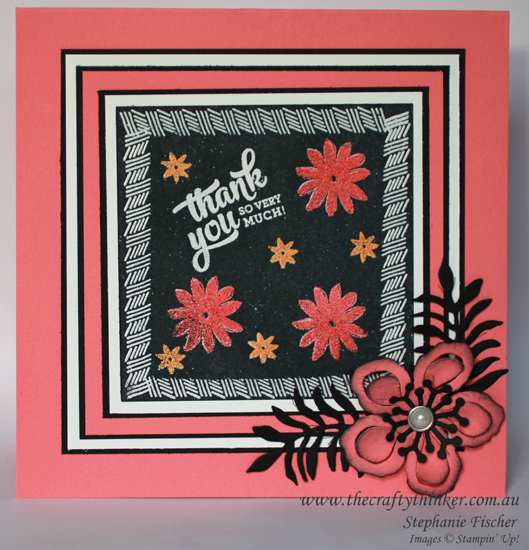 Stampin Up, #thecraftythinker, Josephs Coat Variation technique, Mixed Borders, Perfectly Wrapped