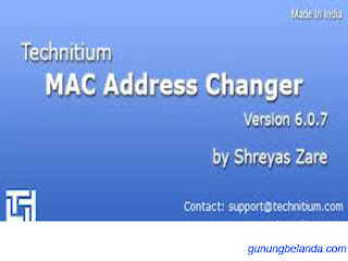 Cara Merubah MAC Address Komputer Dan Laptop Menggunakan Timac