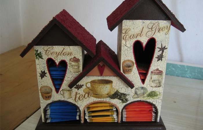 üçlü çay kutusu örneği