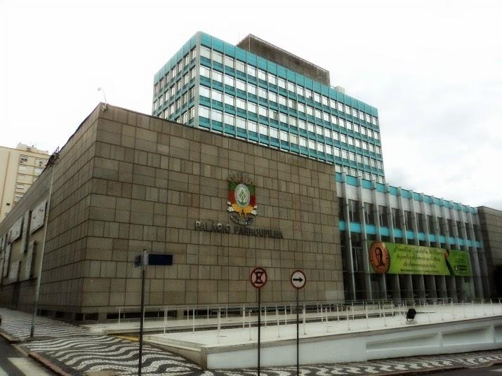 Palácio Farroupilha, em Porto Alegre, a Assembleia Legislativa do Estado do Rio Grande do Sul
