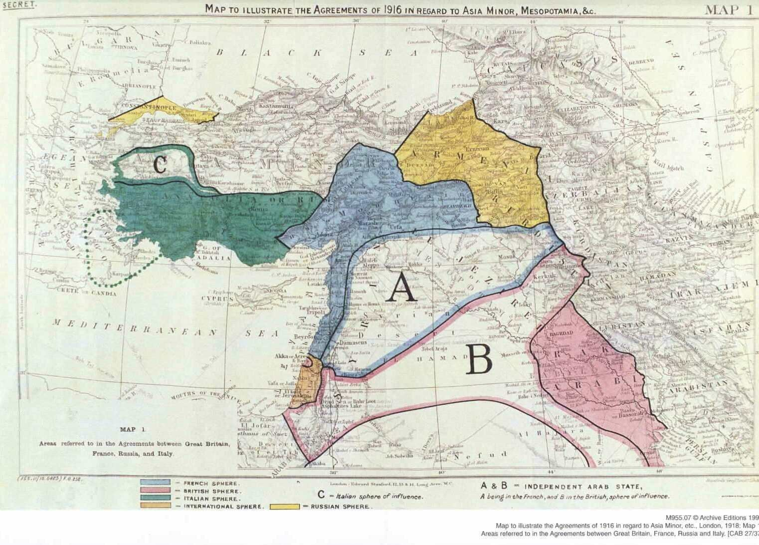 100 Tahun Lalu Sykes-Picot Memulai Malapetaka untuk Timur Tengah