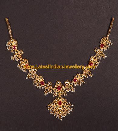 Elegant Uncut Necklace