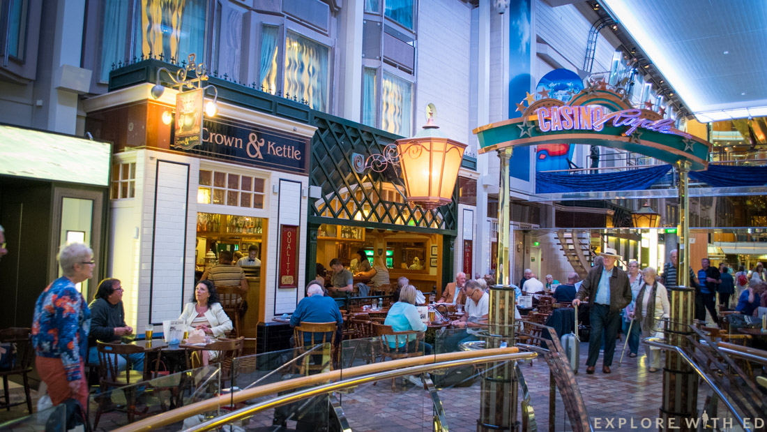 Crown & Kettle pub, Explorer of the Seas