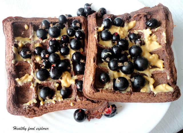 Bezglutenowe czekoladowe gofry