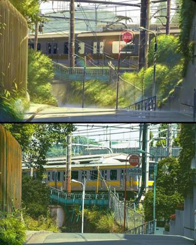 47 gambar Anime pemandangan rel kereta