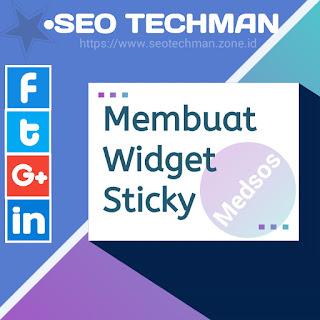 Cara Membuat Widget Sticky Sosial Media