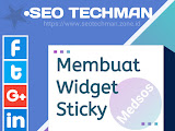 Cara Membuat Widget Sticky Sosial Media Di Blog