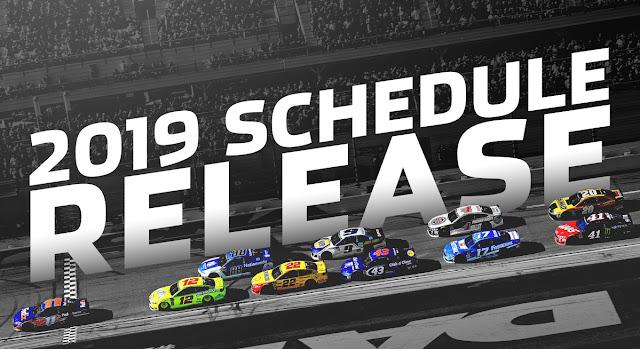 2019 NASCAR racing calendar
