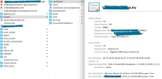 """Archivo de Certificados/Key """"Hardcode"""" en App iOS imagen"""