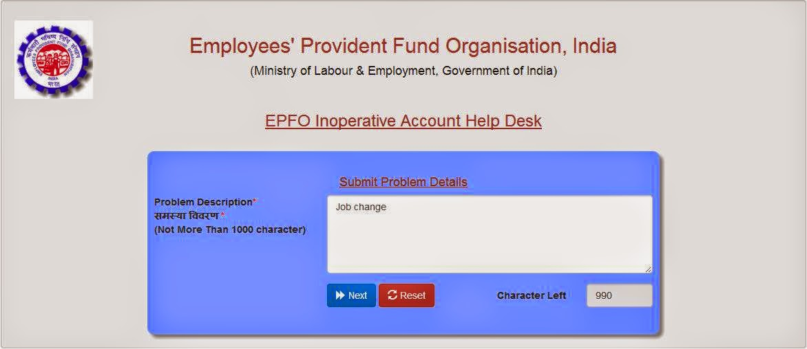 Dormant EPF Account