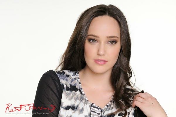 Kathleen Berney Look Book SS 2013 - Headshot. Photo by Kent Johnson.
