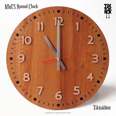 JAM DINDING MWCS ROUND CLOCK