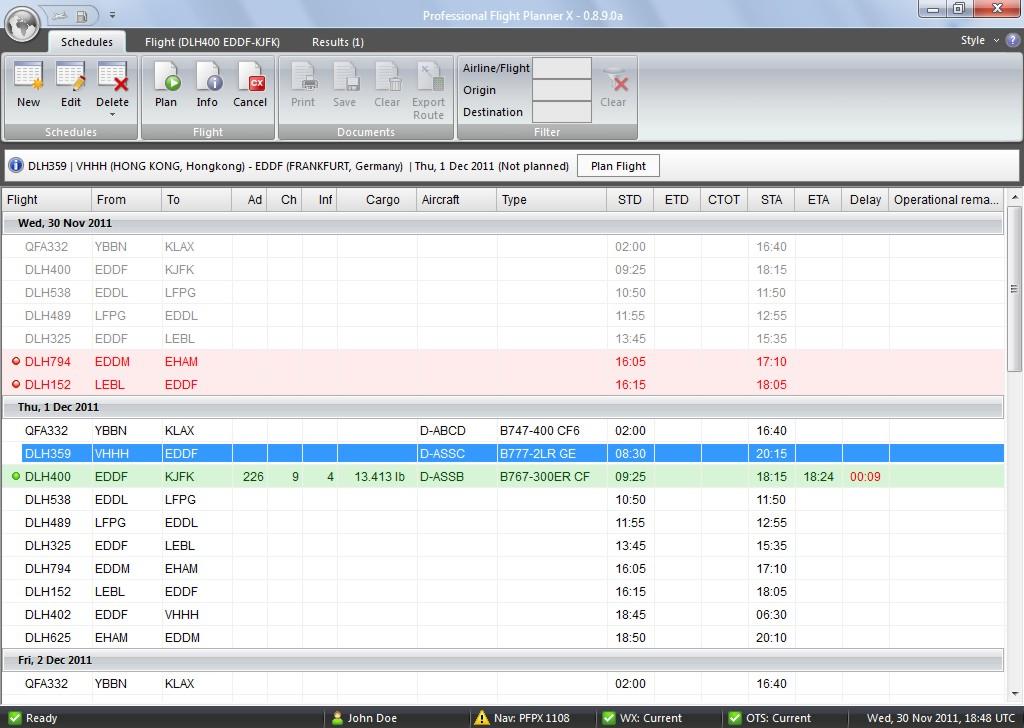AirDailyX: PFPX professional flight planner : new progress