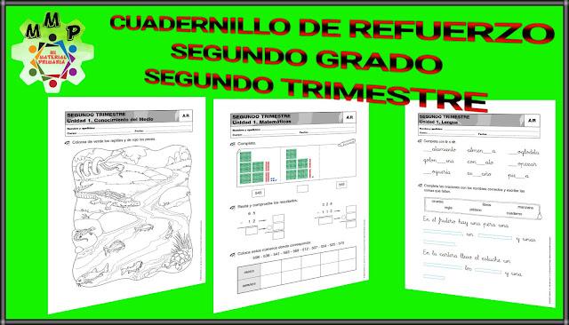 CUADERNILLO DE REFUERZO-SEGUNDO TRIMESTRE-2°
