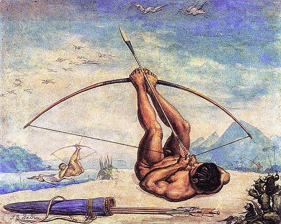 Caboclo - Debret, Jean-Baptiste  ~ Pinturas do Brasil colonial