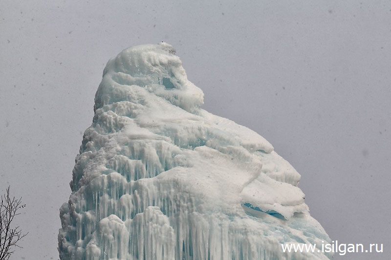 """Ледяной фонтан 2017. Национальный парк """"Зюраткуль"""". Челябинская область"""