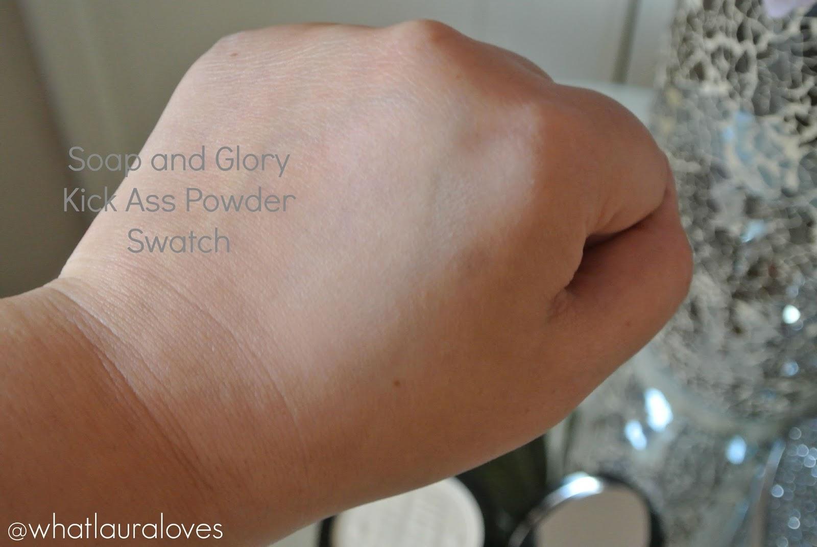 Soap and Glory Kick Ass Powder Swatch