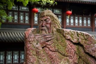 Rosto da Estátua antiga de Guan Yu