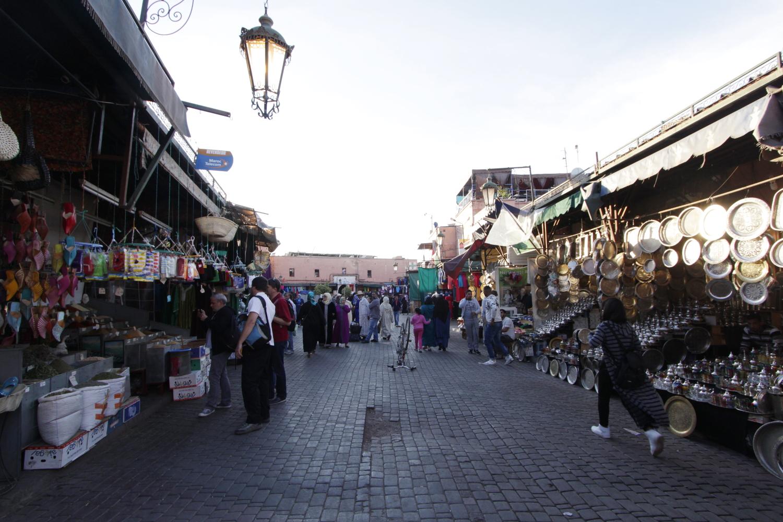Tiendas del zoco de Marrakech