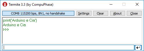 Python exibição de texto