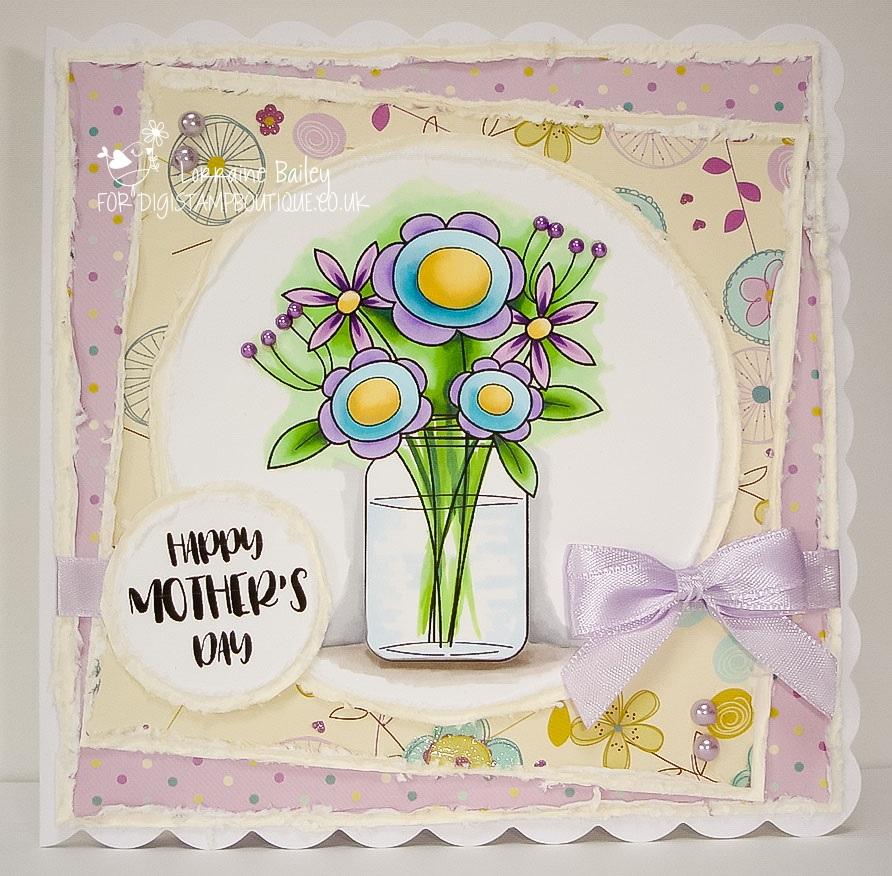 Mrs Bs Blog Pretty Flower Vase Digistamp Boutique Dt