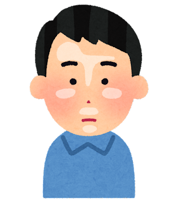 顔のテカリのイラスト(男性)