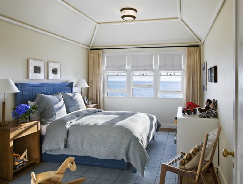 Coastal beach house bedroom