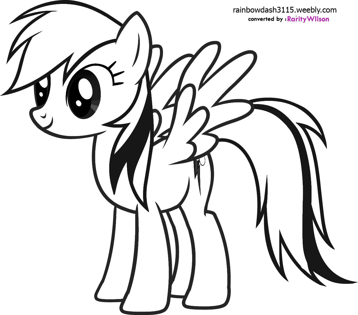 This is a photo of Handy Pony Coloring Picture