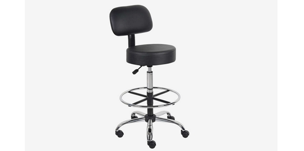 Review 15 Kursi Kantor Terbaik Boss Office Products B16245-BK Be Well Medical Spa Drafting Stool