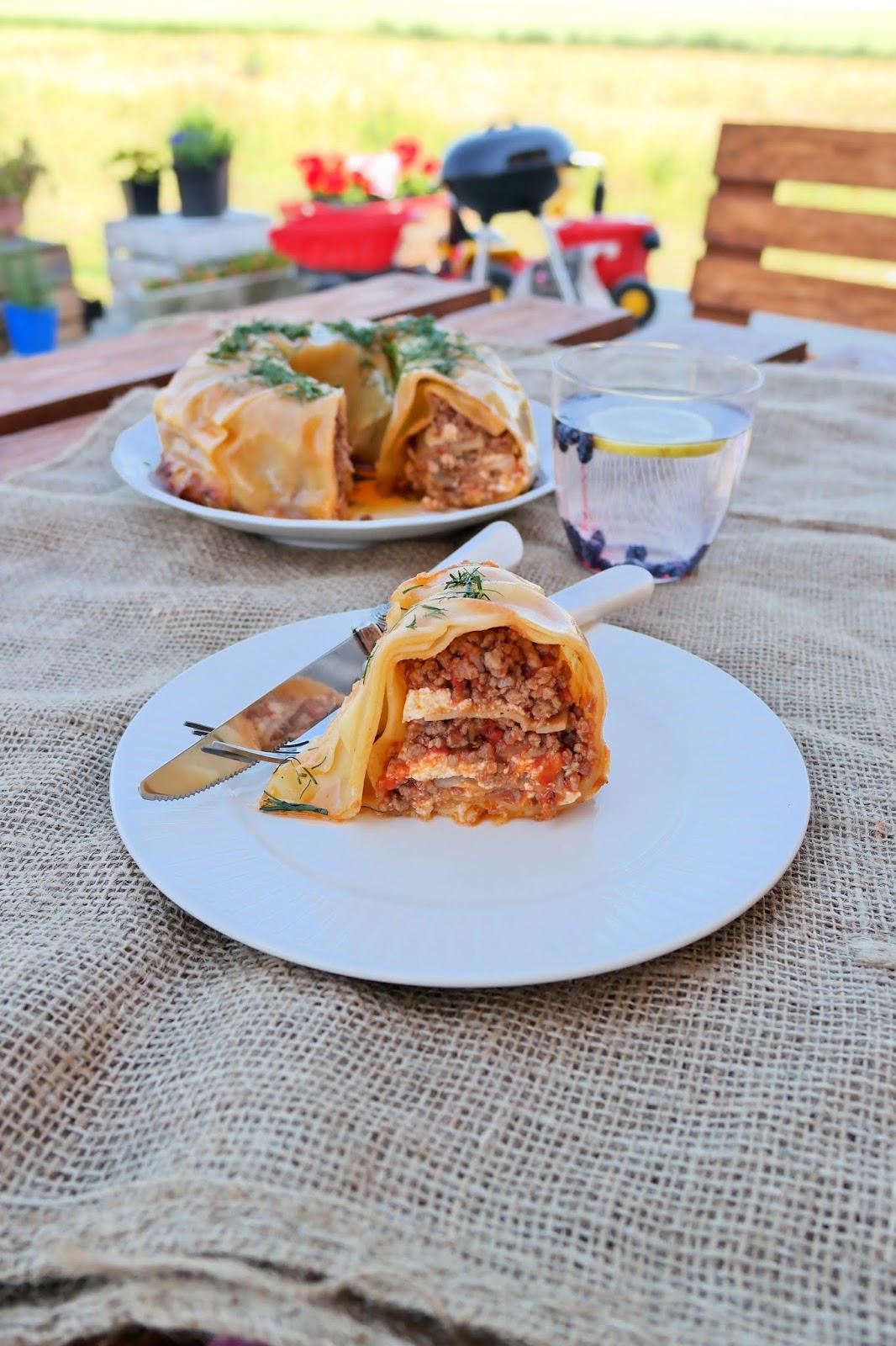 wieniec lasagne