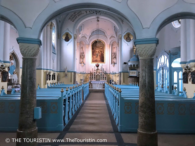 Interior of the blue church St. Elizabeth in Bratislava in Slovakia